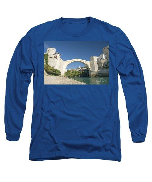 Mostar Bridge In Bosnia Long Sleeve T-Shirt