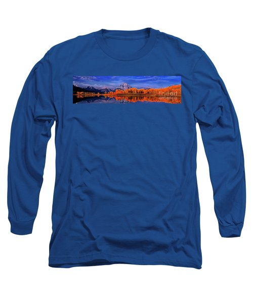 Mount Moran And Fall Color Grand Tetons Long Sleeve T-Shirt