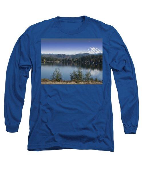 Mount Rainier In The Fall Long Sleeve T-Shirt