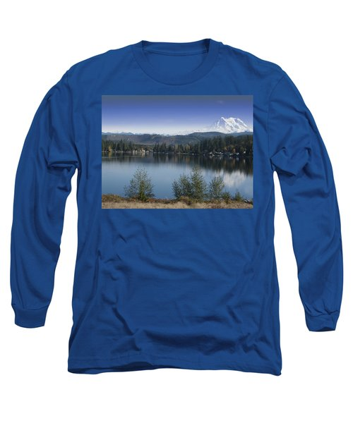 Mount Rainier In The Fall Long Sleeve T-Shirt