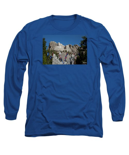 Mount Rushmore Avenue Of Flags Long Sleeve T-Shirt