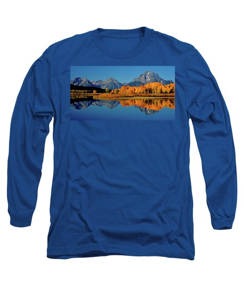 Mt. Moran Reflection Long Sleeve T-Shirt by Ed  Riche