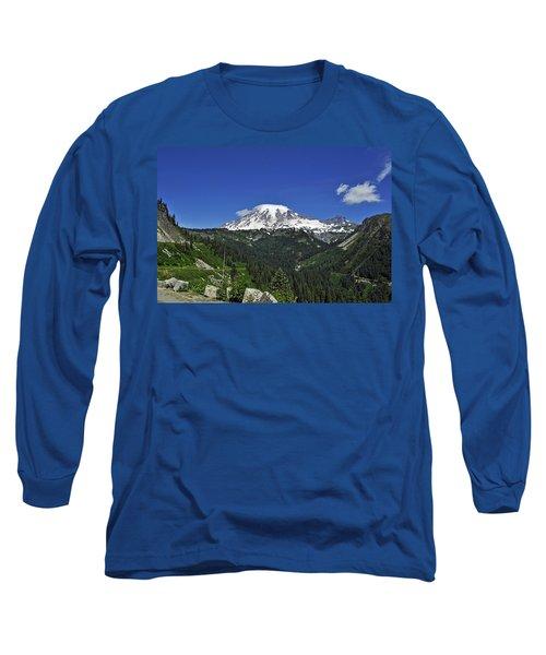Mt Rainier Between The Valley Long Sleeve T-Shirt