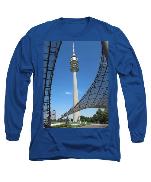 Long Sleeve T-Shirt featuring the photograph Munich Olympic Tower by Pema Hou