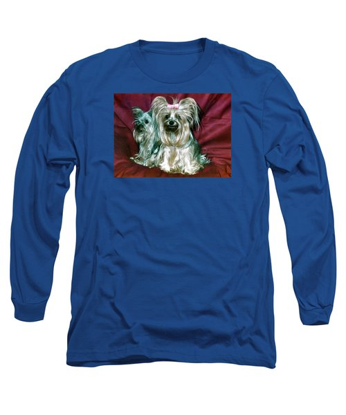 Long Sleeve T-Shirt featuring the photograph My Friends Yorkies by Phyllis Kaltenbach