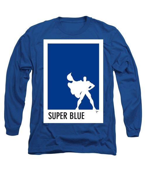 My Superhero 03 Super Blue Minimal Poster Long Sleeve T-Shirt