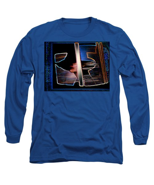 Long Sleeve T-Shirt featuring the painting Mysterious Lady by Hartmut Jager