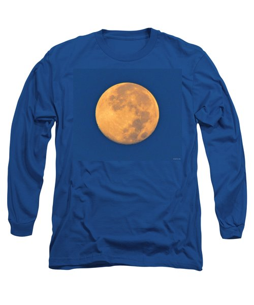 Long Sleeve T-Shirt featuring the photograph Navarre Beach Full Moon At Sunrise by Jeff at JSJ Photography