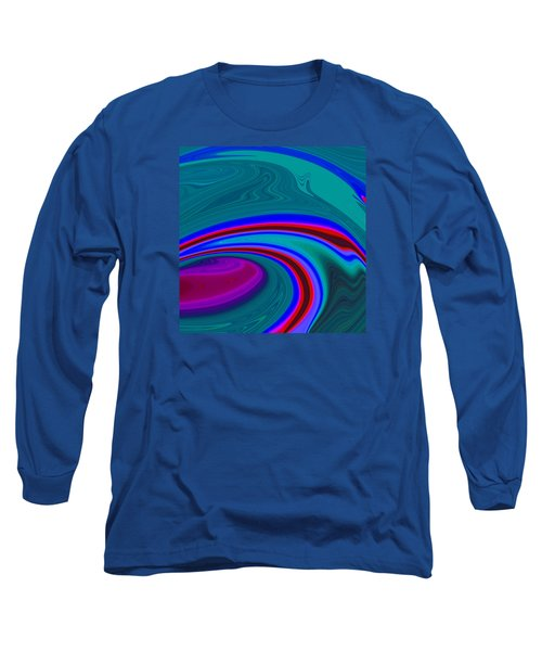 Neon Wave C2014 Long Sleeve T-Shirt by Paul Ashby