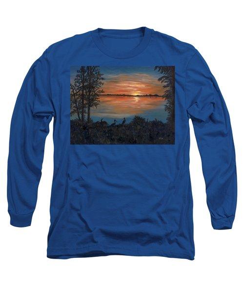 Nightfall At Loxahatchee Long Sleeve T-Shirt