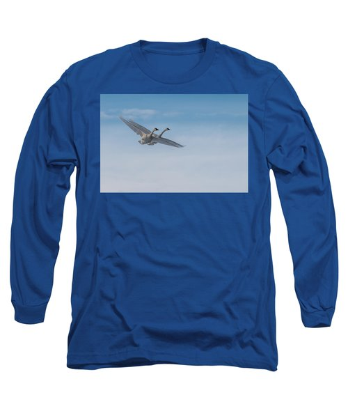 Trumpeter Swan Tandem Flight I Long Sleeve T-Shirt