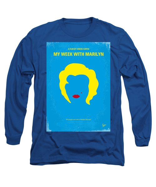 No284 My Week With Marilyn Minimal Movie Poster Long Sleeve T-Shirt