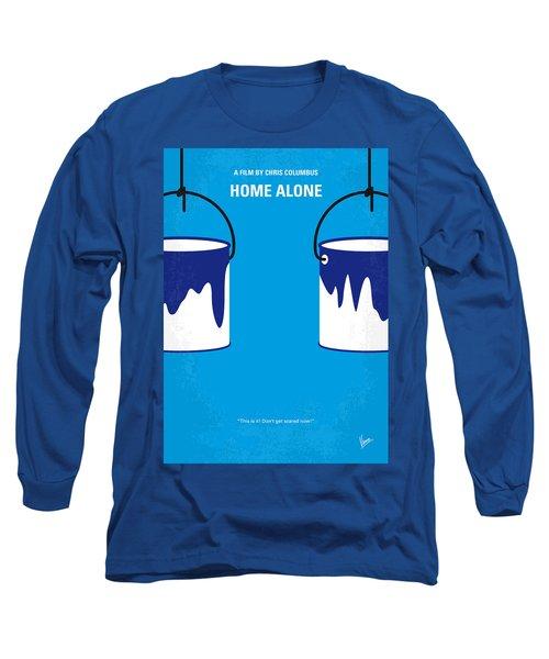 No427 My Home Alone Minimal Movie Poster Long Sleeve T-Shirt by Chungkong Art