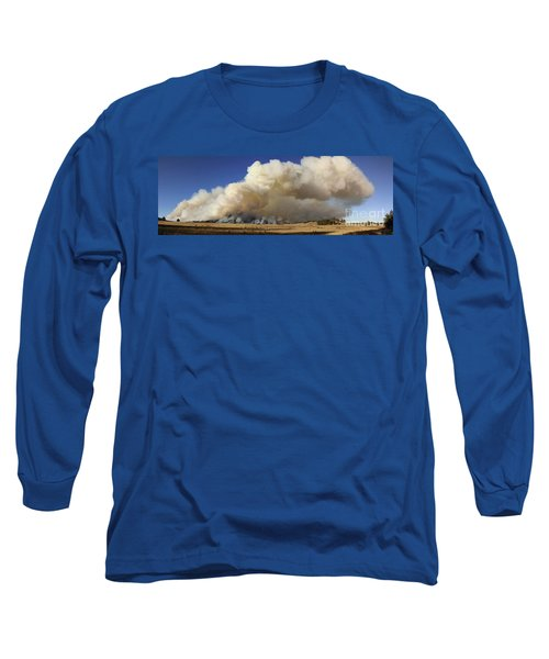Long Sleeve T-Shirt featuring the photograph Norbeck Prescribed Fire Smoke Column by Bill Gabbert
