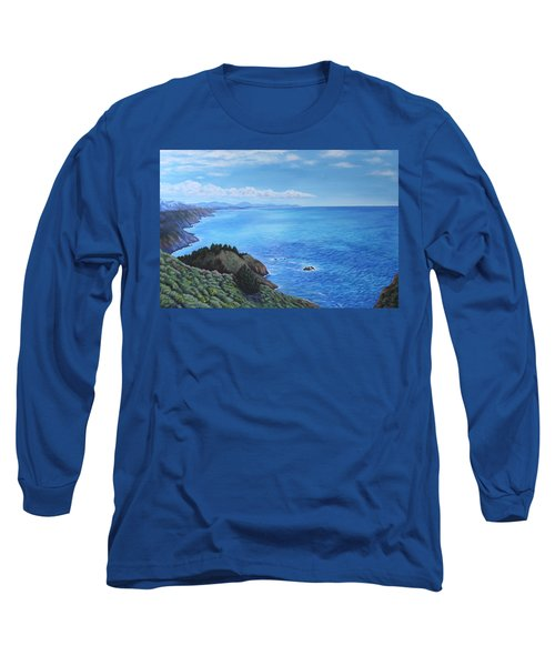 Northern California Coastline Long Sleeve T-Shirt by Penny Birch-Williams