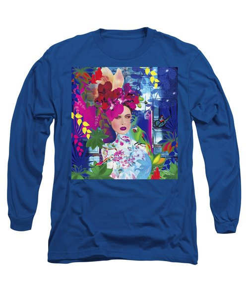 Not Always So Blue - Limited Edition 2 Of 20 Long Sleeve T-Shirt by Gabriela Delgado