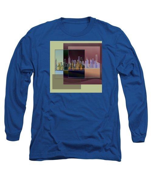 Nyc Abstract-3 Long Sleeve T-Shirt