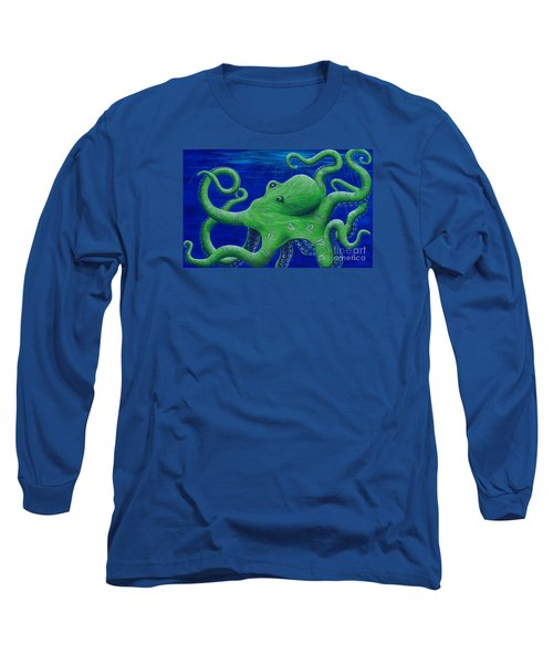 Long Sleeve T-Shirt featuring the painting Octohawk by Rebecca Parker