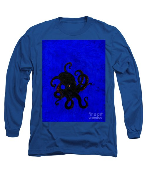 Octopus Black And Blue Long Sleeve T-Shirt