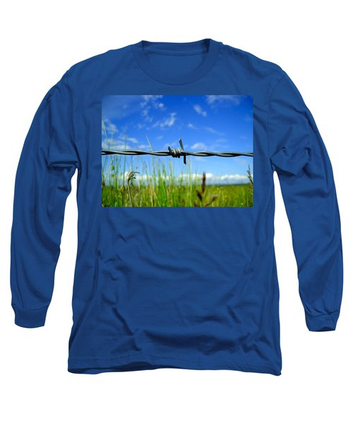 Long Sleeve T-Shirt featuring the photograph Off Limits by Nina Ficur Feenan
