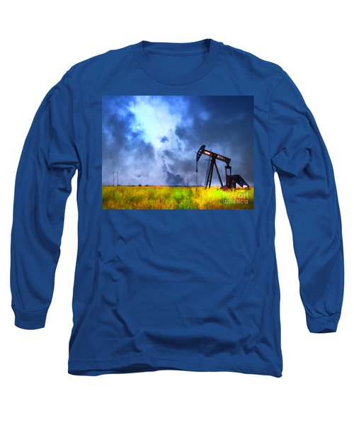 Oil Pump Field Long Sleeve T-Shirt