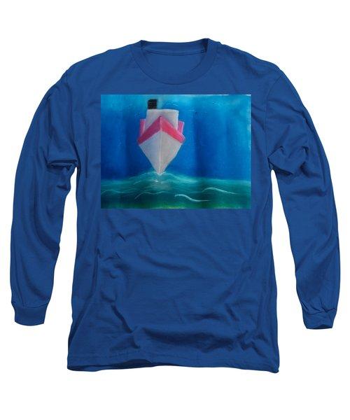 Oil Tanker Long Sleeve T-Shirt by Joshua Maddison