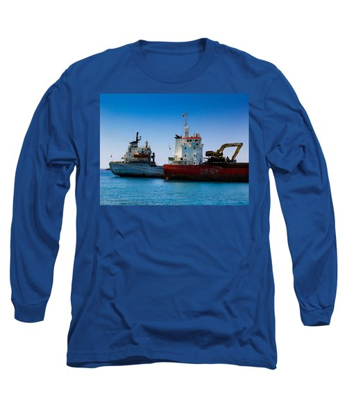Old Ships Long Sleeve T-Shirt by Kevin Desrosiers