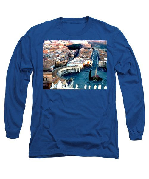 Long Sleeve T-Shirt featuring the digital art On Top Of Vatican 1 by Brian Reaves