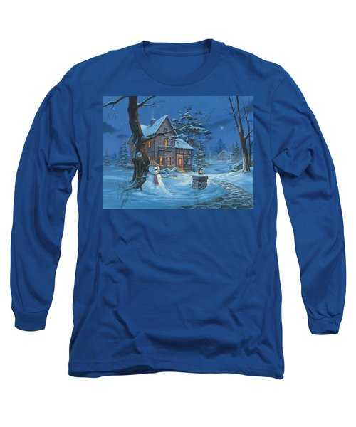 Once Upon A Winter's Night Long Sleeve T-Shirt by Michael Humphries