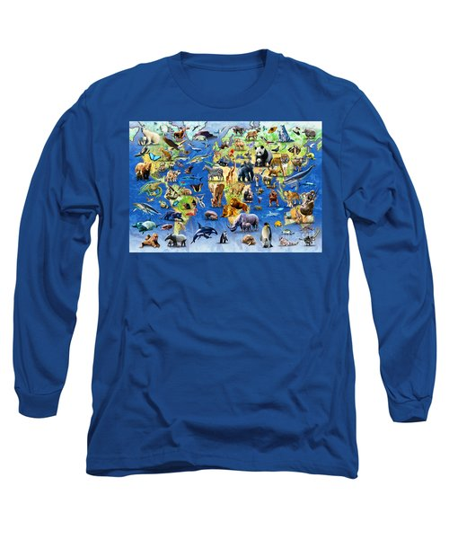 One Hundred Endangered Species Long Sleeve T-Shirt by Adrian Chesterman