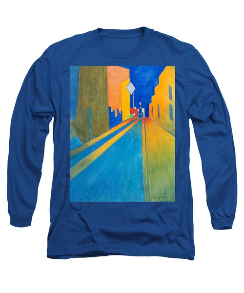 Orange France At Night Long Sleeve T-Shirt