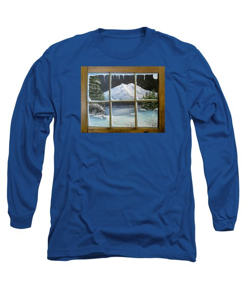 Out My Window-bright Winter's Night Long Sleeve T-Shirt by Sheri Keith