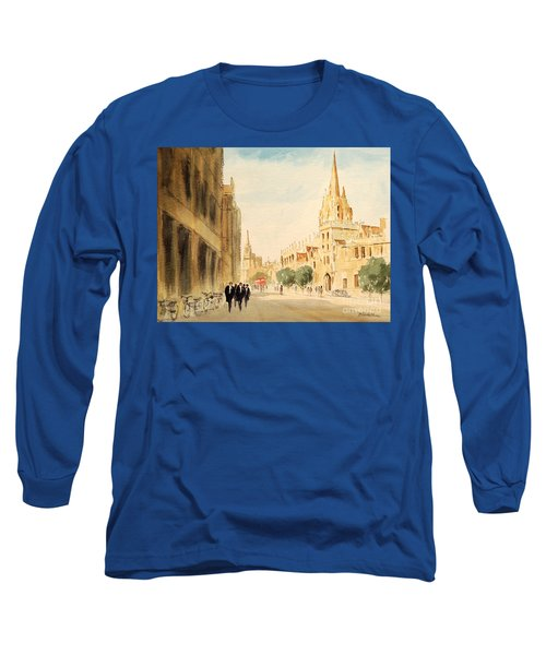 Long Sleeve T-Shirt featuring the painting Oxford High Street by Bill Holkham