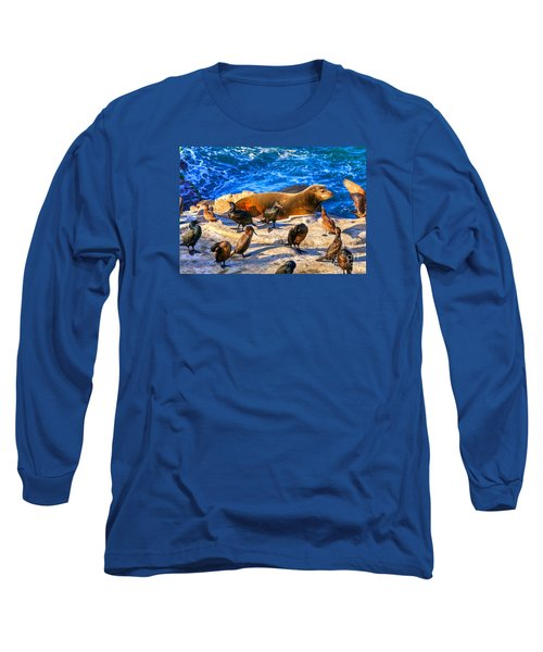 Pacific Harbor Seal Long Sleeve T-Shirt by Jim Carrell