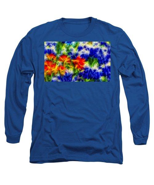 Painted Wildflowers Long Sleeve T-Shirt