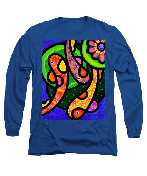 Paisley Pond - Vertical Long Sleeve T-Shirt