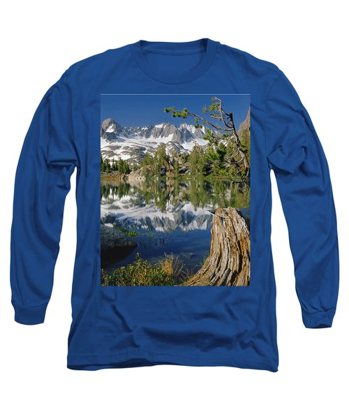 2m6443-v-palisade Peaks And Summit Lake V Long Sleeve T-Shirt