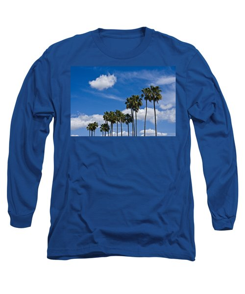 Palm Trees In San Diego California No. 1661 Long Sleeve T-Shirt