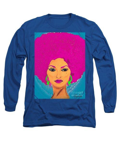 Pam Grier Bold Diva C1979 Pop Art Long Sleeve T-Shirt
