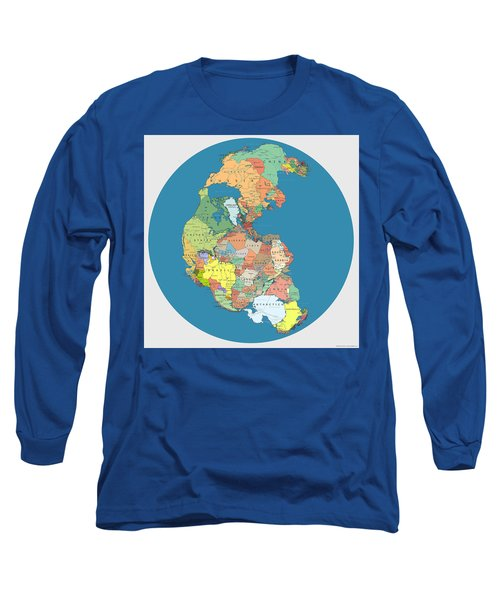 Pangaea Politica By Massimo Pietrobon Long Sleeve T-Shirt