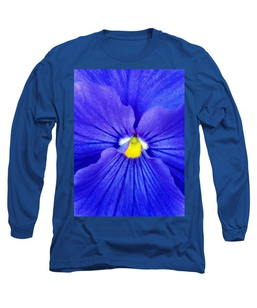Pansy Flower 37 Long Sleeve T-Shirt