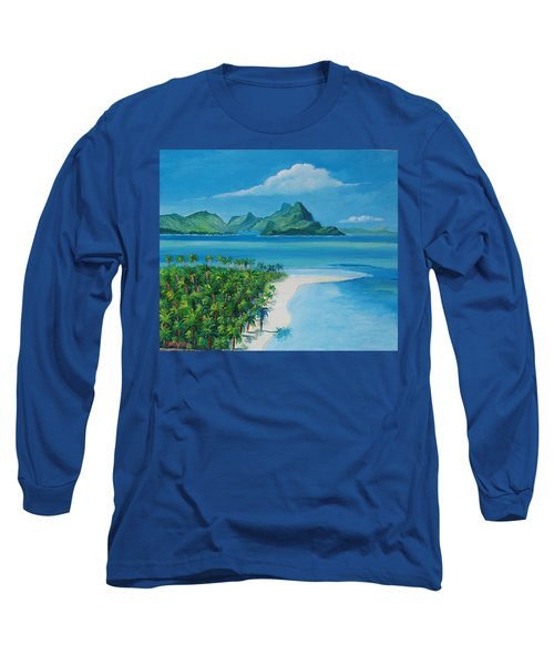 Papeete Bay In Tahiti Long Sleeve T-Shirt