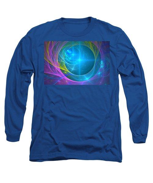 Long Sleeve T-Shirt featuring the digital art Parallel Realities by Svetlana Nikolova