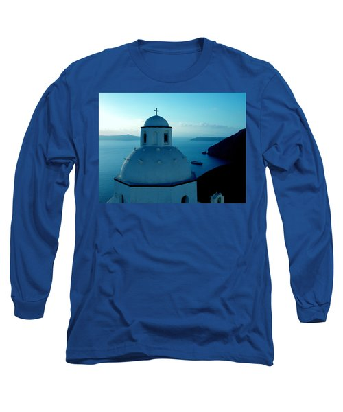 Long Sleeve T-Shirt featuring the photograph Peacefull Santorini Greek Island  by Colette V Hera  Guggenheim