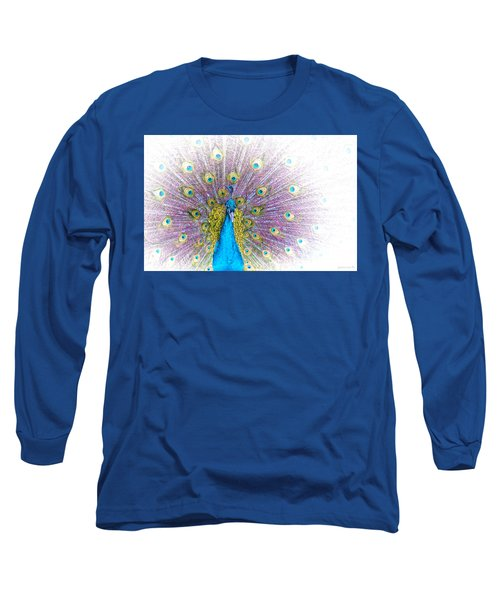 Long Sleeve T-Shirt featuring the photograph Peacock by Holly Kempe