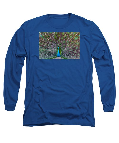 Peacock Long Sleeve T-Shirt by Venetia Featherstone-Witty
