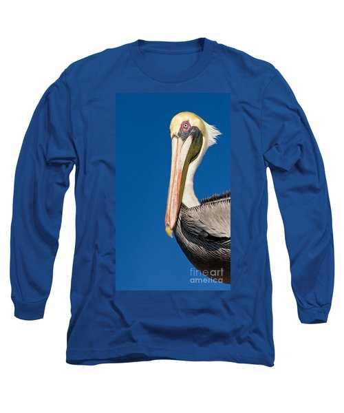 Long Sleeve T-Shirt featuring the photograph Pelican by Les Palenik
