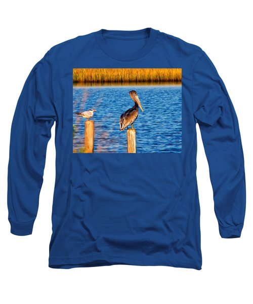 Pelican On A Pole Long Sleeve T-Shirt