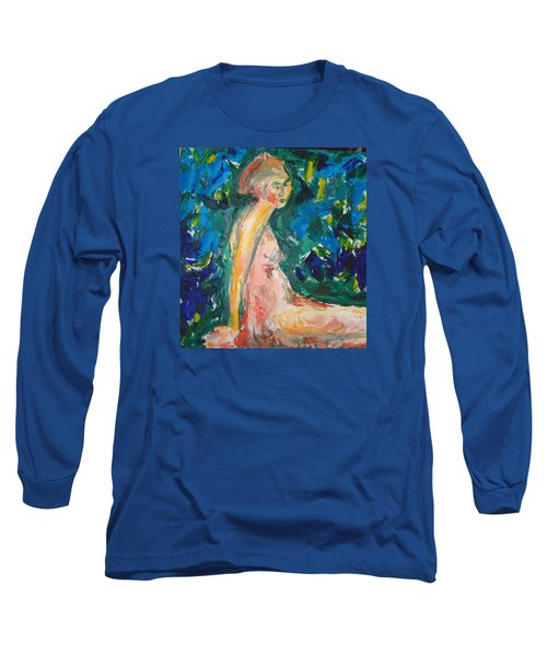 Long Sleeve T-Shirt featuring the painting Penelope Silenced by Esther Newman-Cohen