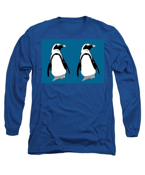 Penguin Twins  Long Sleeve T-Shirt by Joyce  Wasser